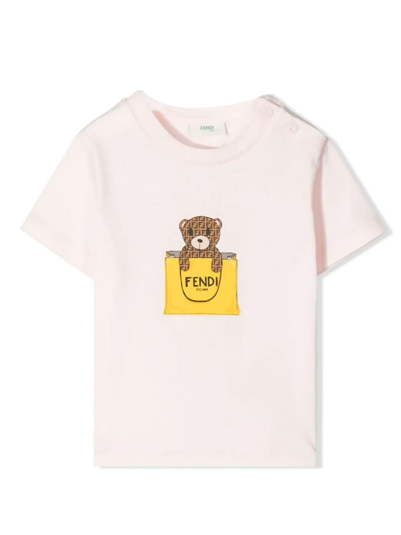 Fendi Pink Cotton-blend T-shirt - Rosa