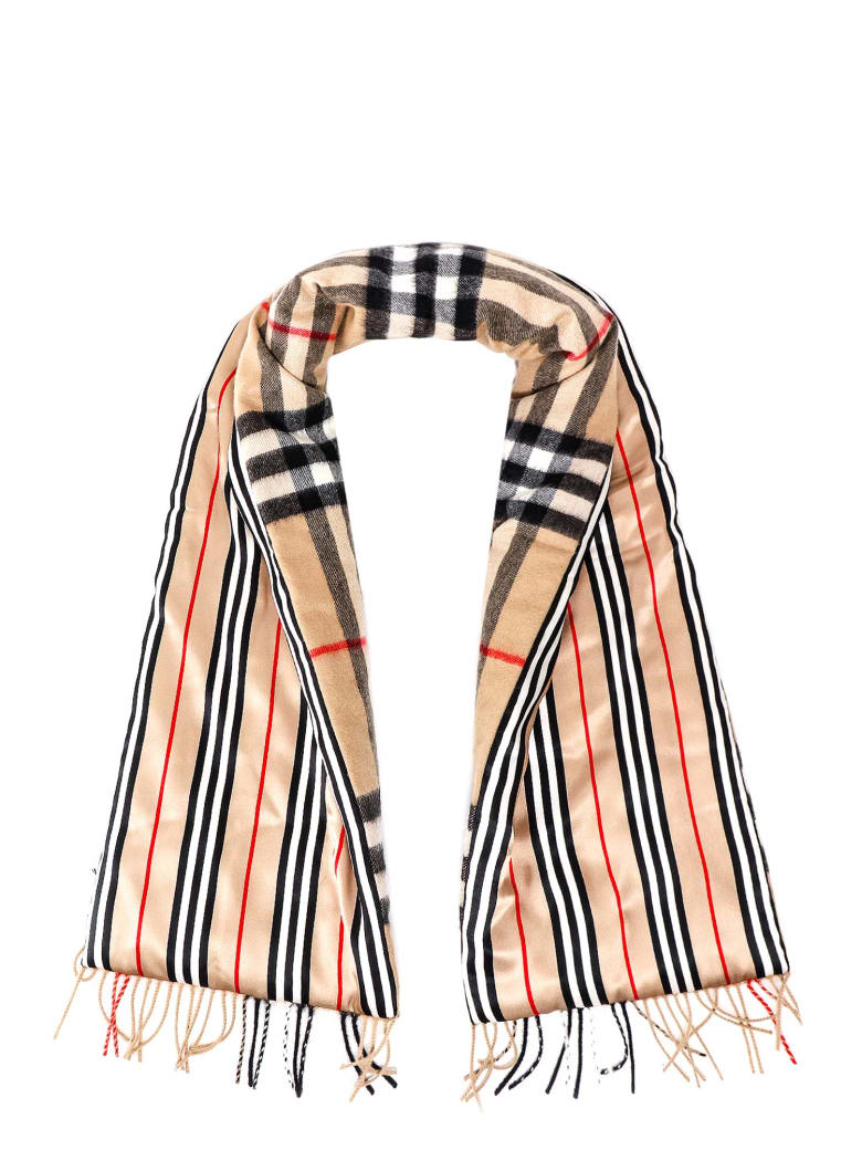 Burberry Giant Check Scarf - Beige