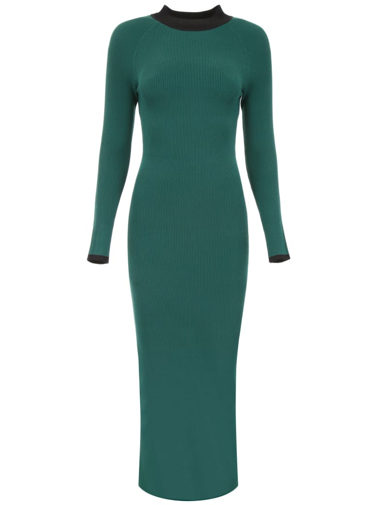 STAUD Avenue Dress - JADE BLACK (Green)