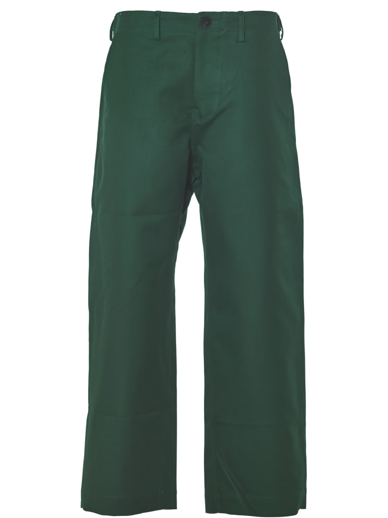 Sofie d'Hoore Pants With Adjustable Straps Along Sides - Woven Green