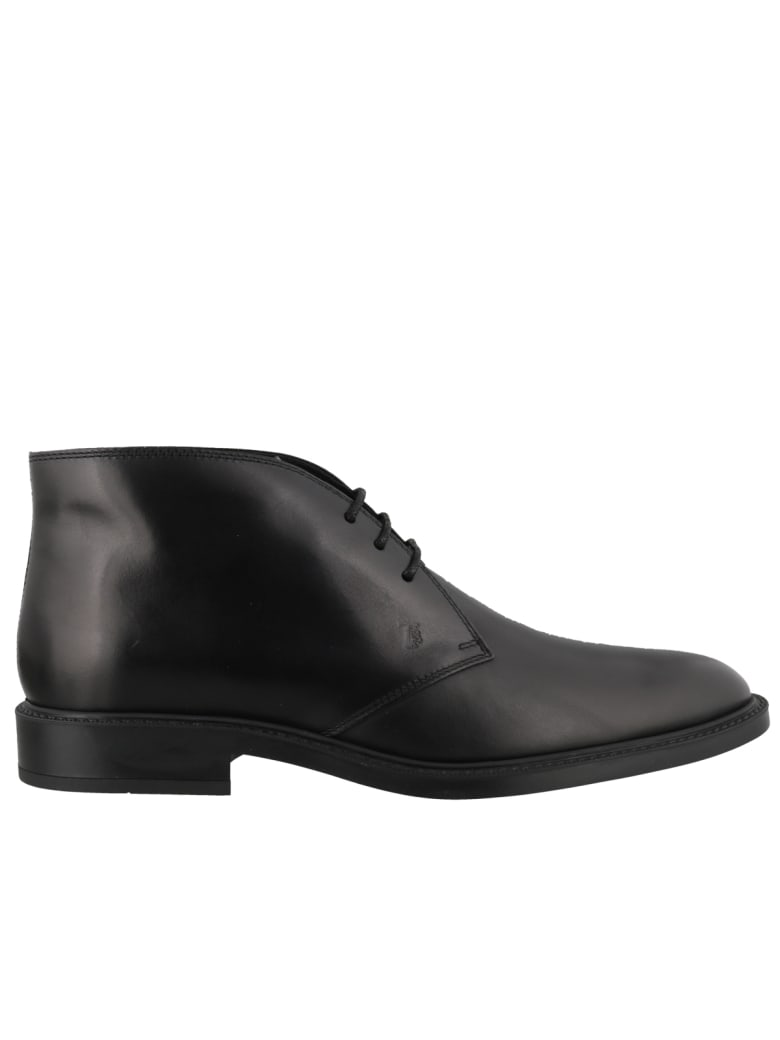 Tod's Leather Laced Up Shoes - Black