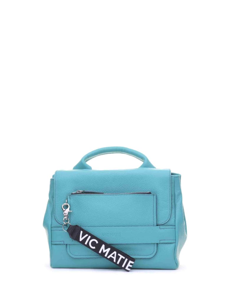Vic Matié Vic Matié Uma Satchel Emerald Leather Bag - SMERALDO