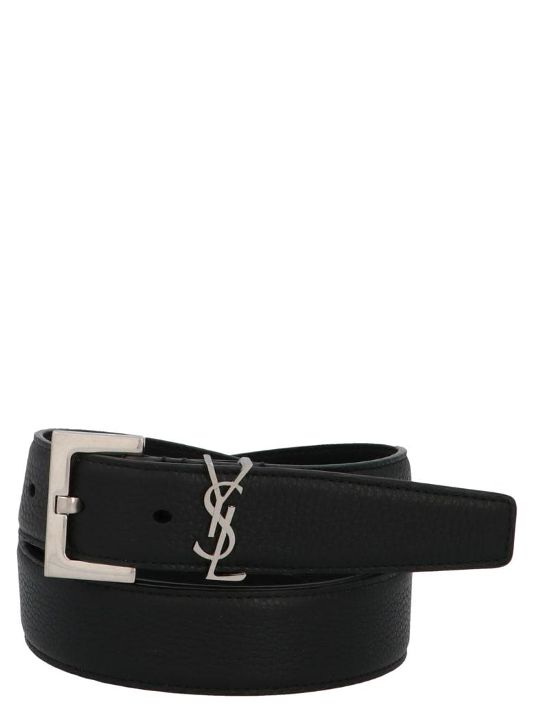 Saint Laurent 'cuir Grane Supple' Belt - Black