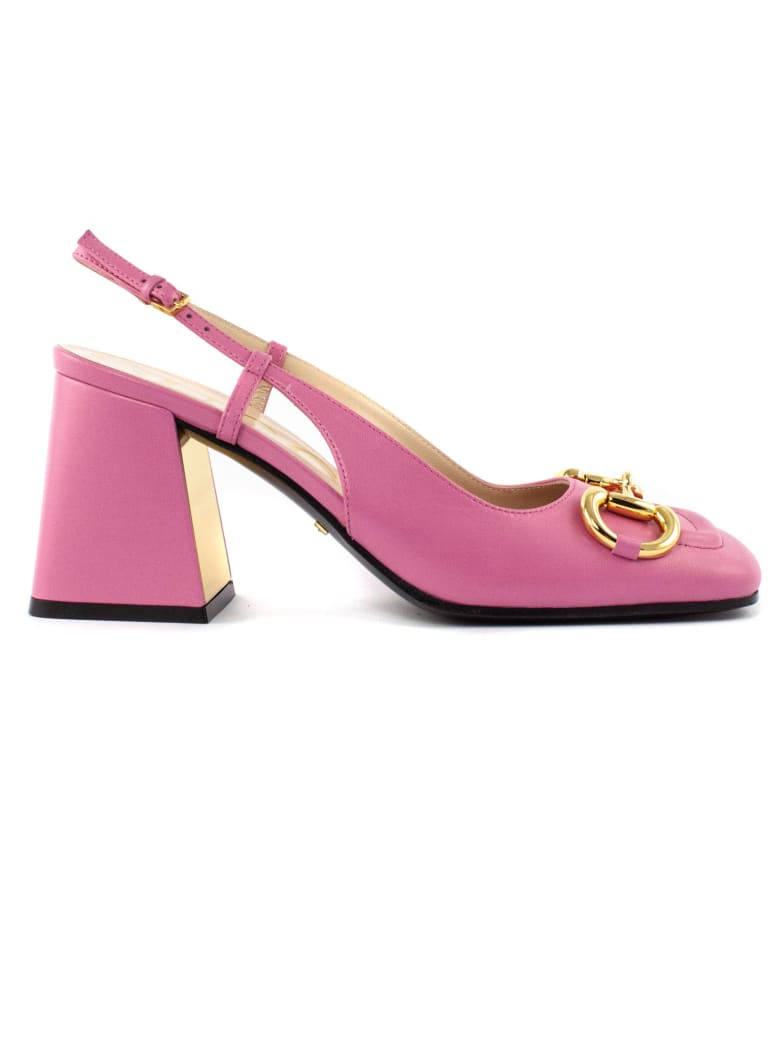 Gucci Pink Leather Slingback - Rosa
