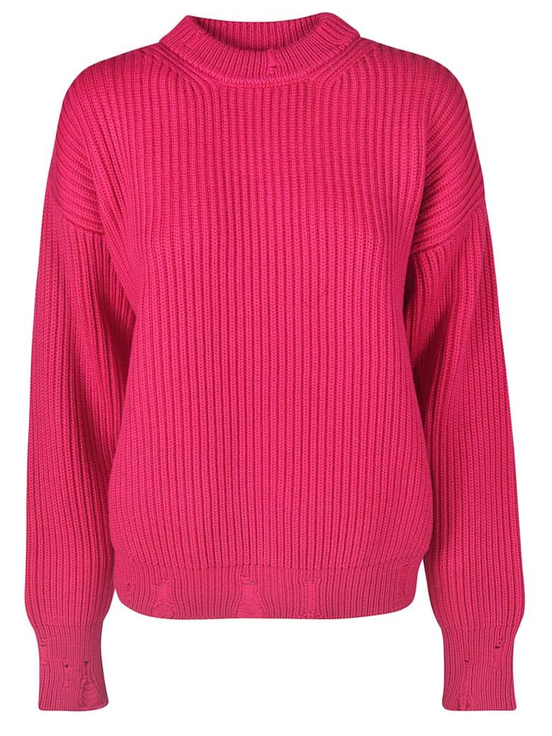Nina Ricci Ribbed Knit Sweater - Magenta