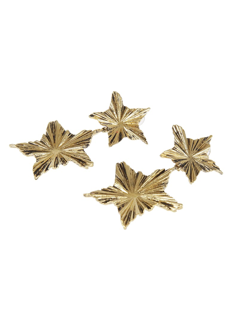 Saint Laurent 2 Stars Earring - Gold