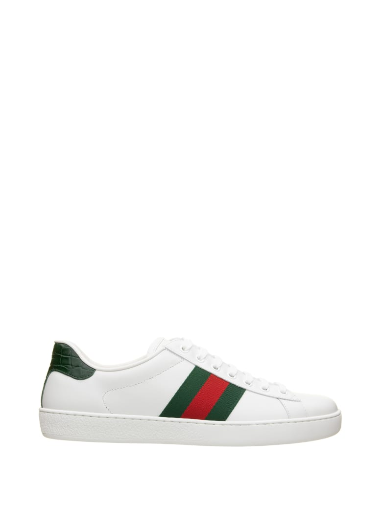 Gucci Ace Leather Sneaker - Bianco Verde