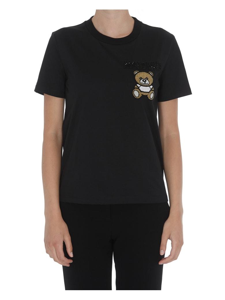 Moschino Ready To Bear Logo Tshirt - Black