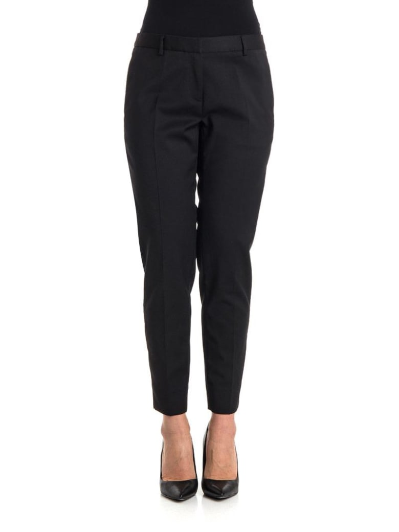NEWYORKINDUSTRIE Cotton Trousers - BLACK