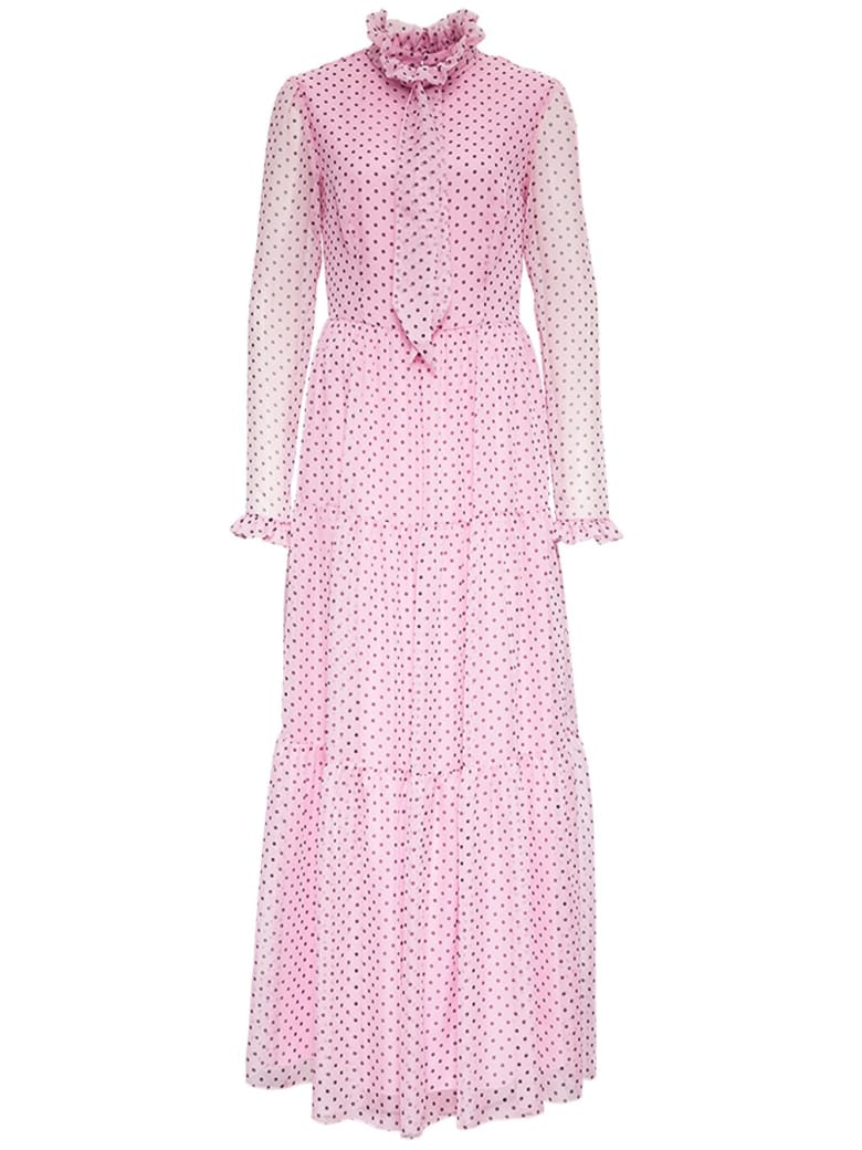 Philosophy di Lorenzo Serafini Polka Dot Long Chiffon Dress - Pink