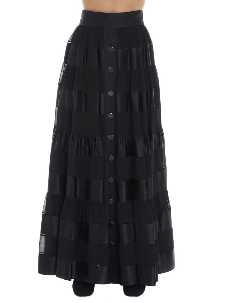 Zimmermann 'sabotage Ribbon Stripe' Skirt - Black