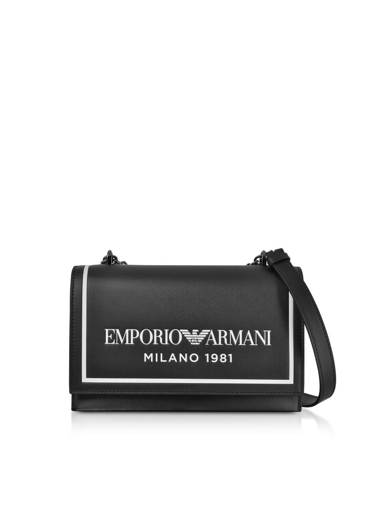 Emporio Armani Two-tone Shoulder Bag - Black/White