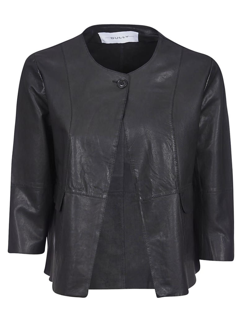 Bully One-button Leather Jacket - Nero