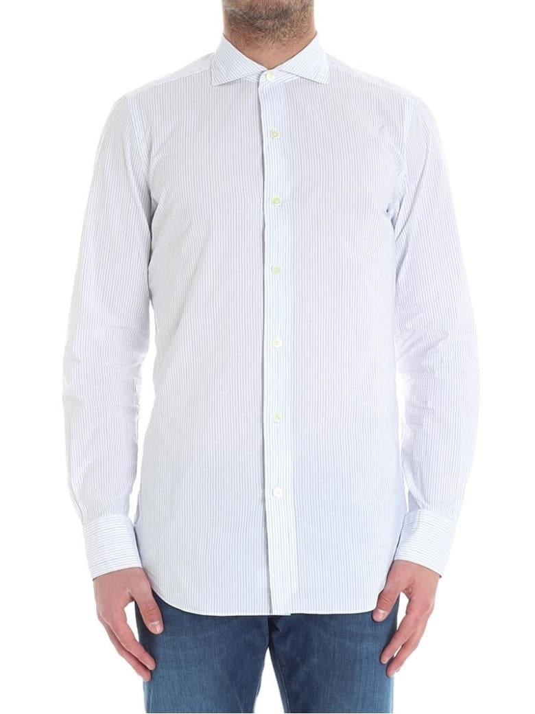 Finamore Cotton Linen Shirt - White