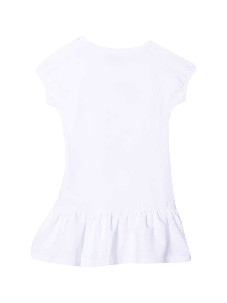 Moschino White Teen Dress With Toy Print - Bianco