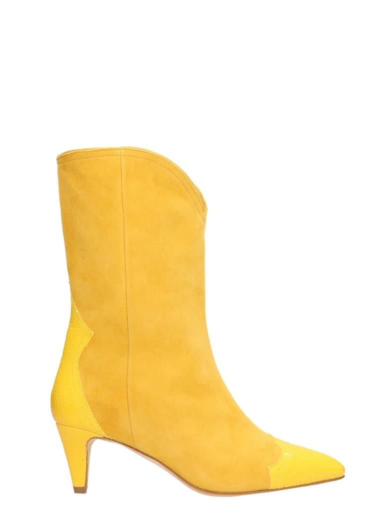 The Seller Yellow Suede Ankle Boots - yellow
