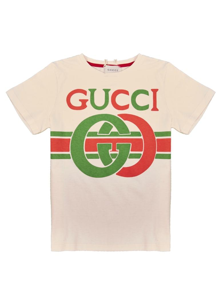 Gucci Logo Print T-shirt - Sunkissed