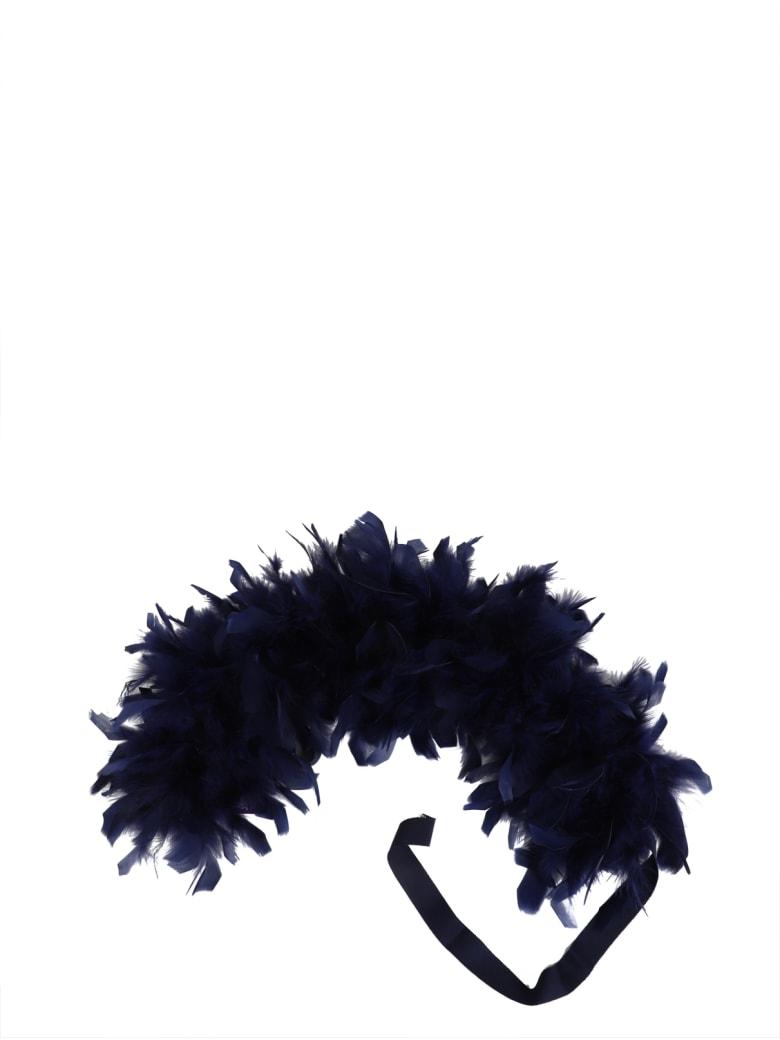 Ralph Lauren Navy Feather Boa - Navy