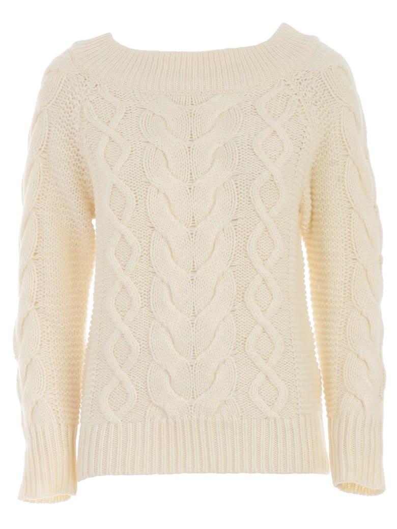 SEMICOUTURE Sweater Dolores W/braids - Off White
