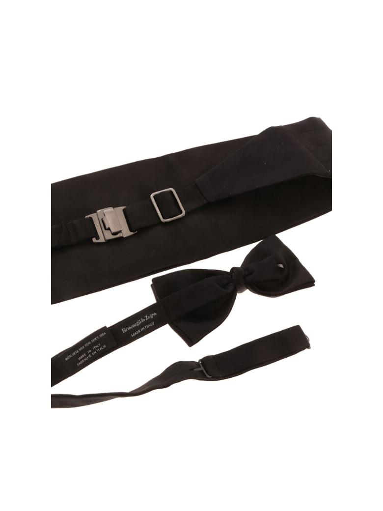 Ermenegildo Zegna Kit Cummerbund Bow Tie - A Black