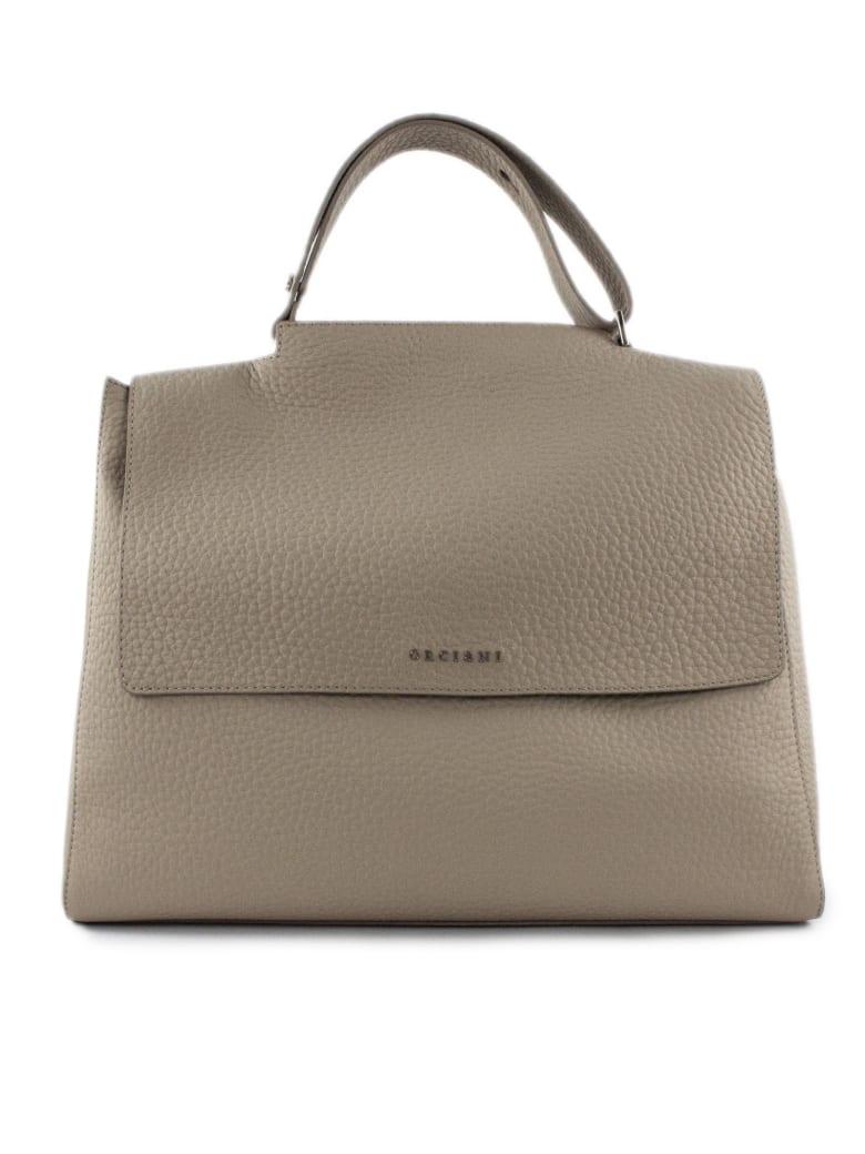 Orciani Beige Leather Sveva Bag - Beige Chiaro