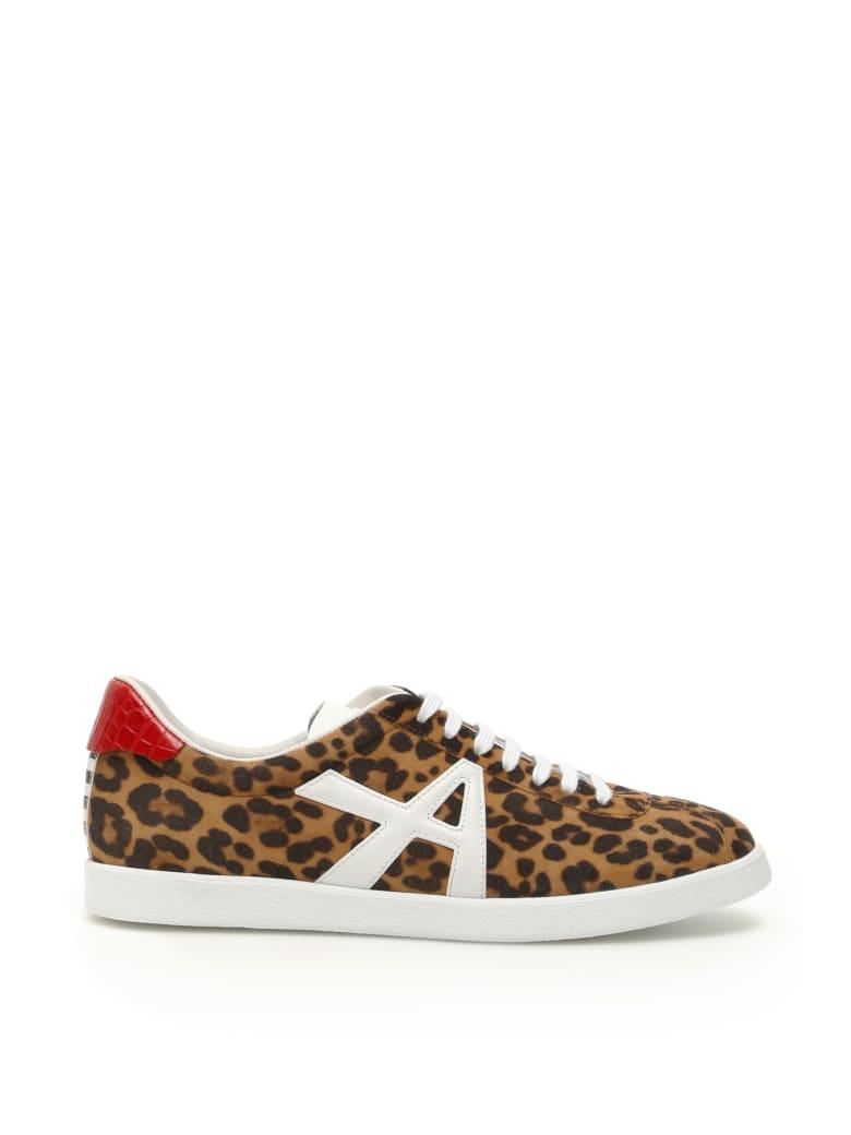 Aquazzura Jaguar Suede Sneakers - SABBIA LIPSTICK (Black)