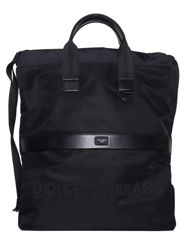 Dolce & Gabbana Logo Backpack - Nero/nero