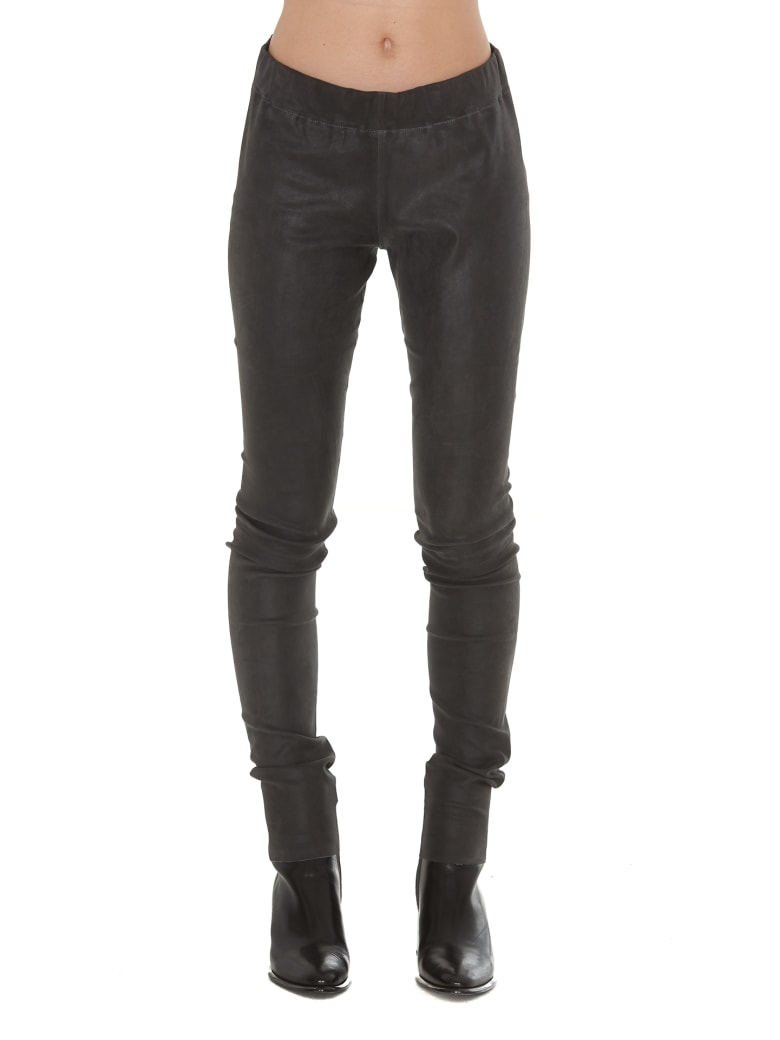 Sylvie Schimmel Fun Strecht Vintage Leather Trousers - Grey