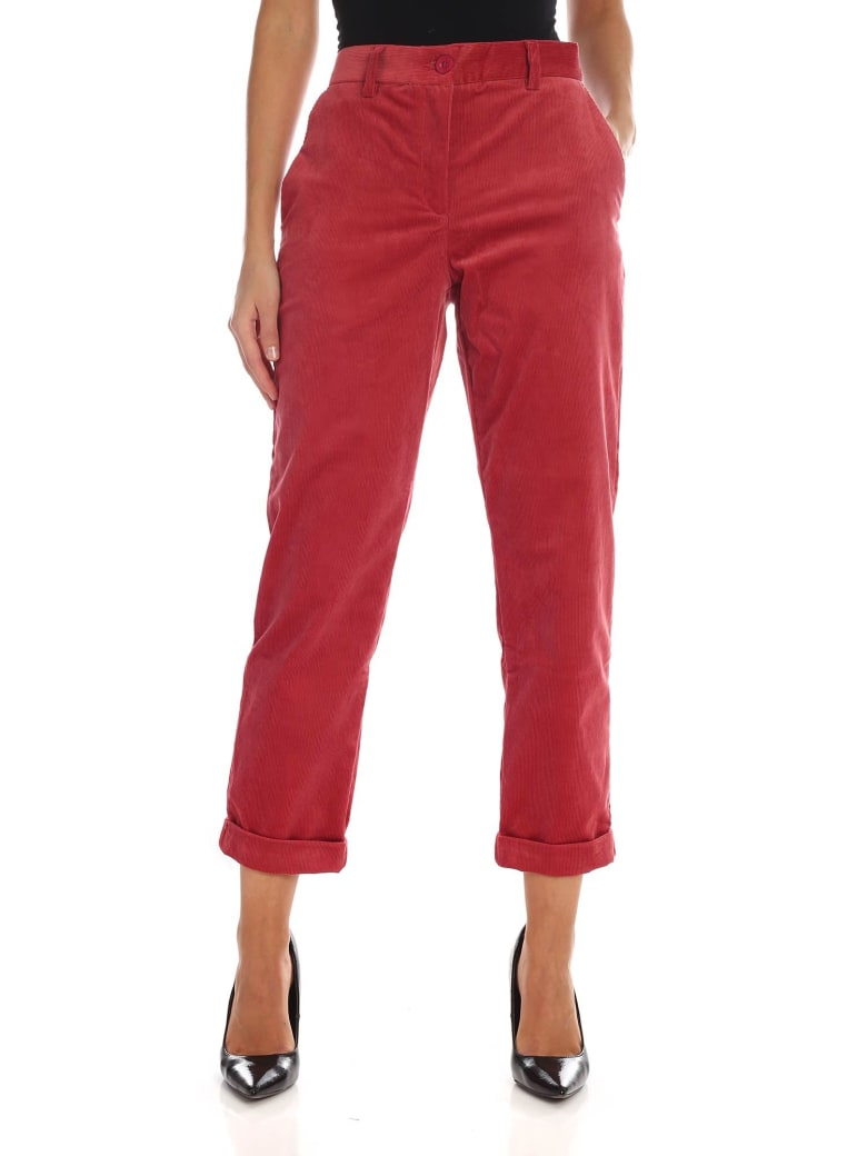 Paul Smith Corduroy Trousers - Red