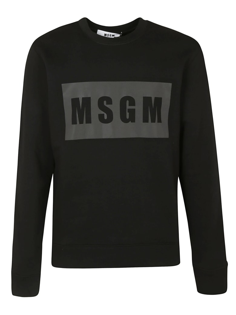 MSGM Chest Logo Sweatshirt - Black