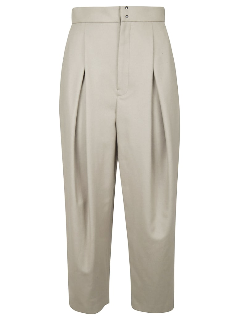 Y's Wide Leg Trousers - Natural