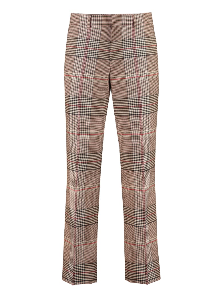 Burberry Tailored Wool Trousers - Beige