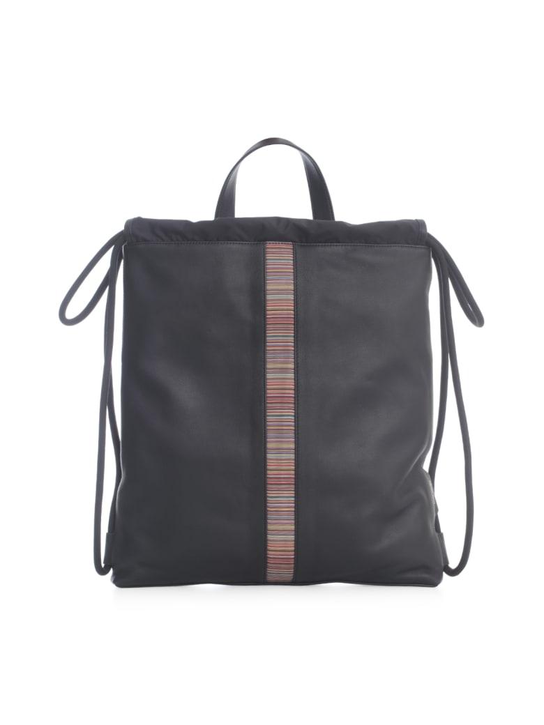 Paul Smith Bag Multistripe Drawstring - Nero