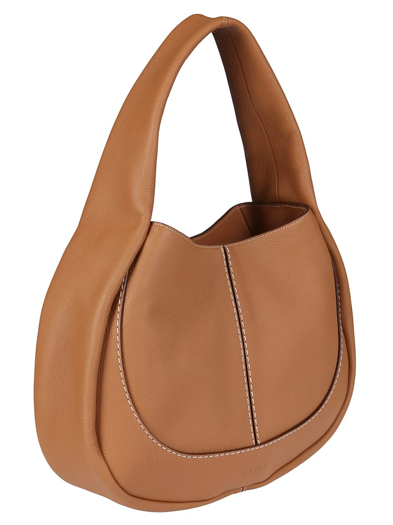 Tod's Brown Leather Tote Bag - Brown