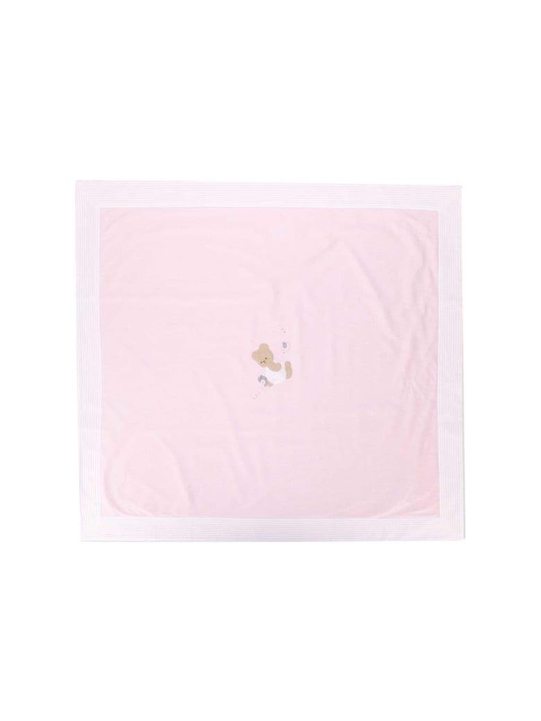 Il Gufo Teddy Bear Embroidered Blanket - Rosa