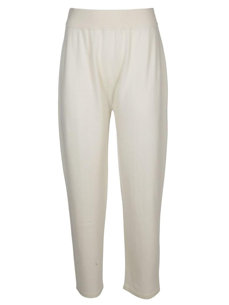 Agnona White Cashmere Track Pants - White