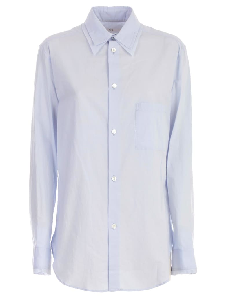 Y's Dobule Collar Shirt - Light Blue