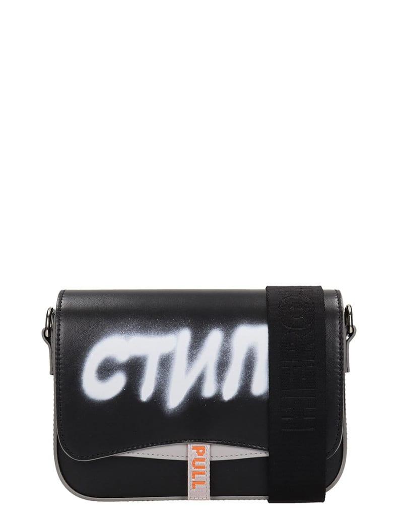 HERON PRESTON Shoulder Bag In Black Leather - black