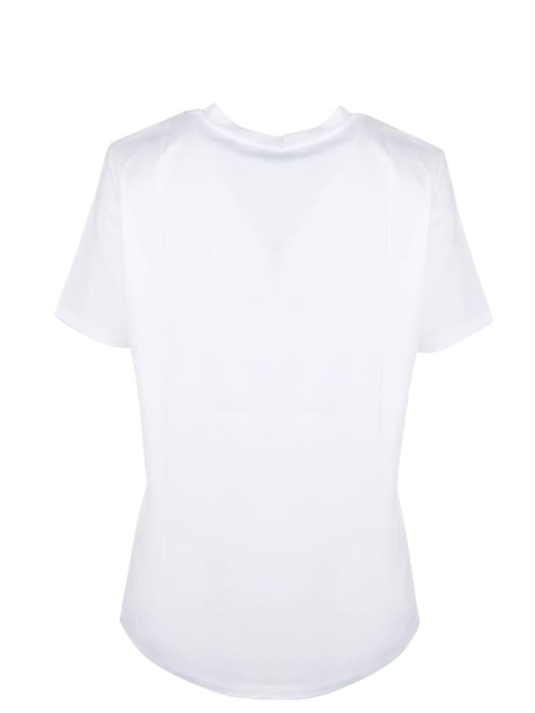 Balmain Metallic Logo T-shirt - Blanc/or