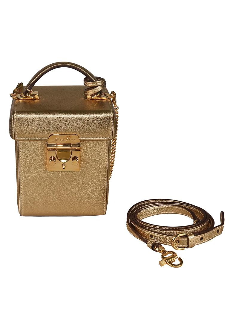 Mark Cross Metallic Box Shoulder Bag - Gold
