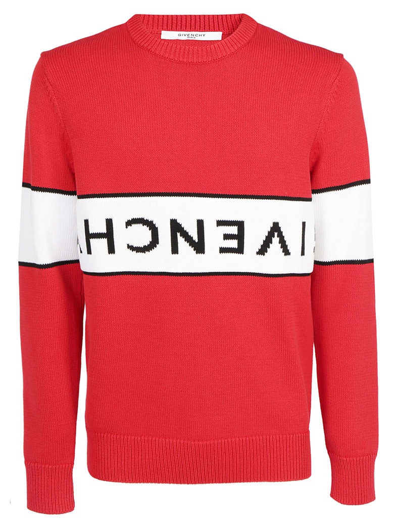 Givenchy Logo Sweater - Red white