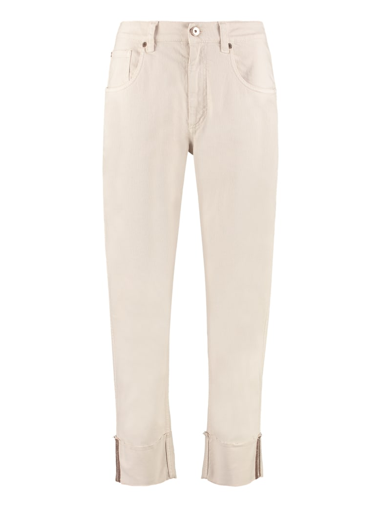 Brunello Cucinelli Cropped-fit Jeans - Beige