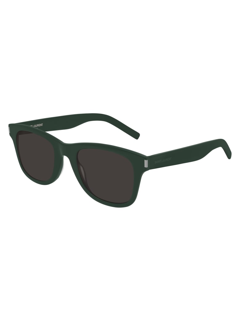 Saint Laurent SL 51/B SLIM Sunglasses - Green Green Black