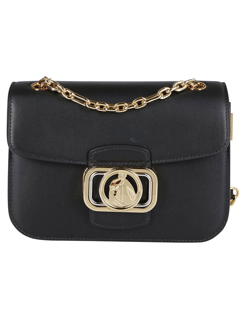 Lanvin Black Leather Swan Bag - Black