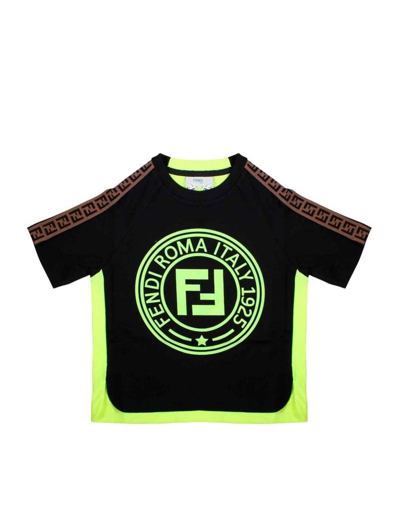 Fendi Black T-shirt - Nero/giallo