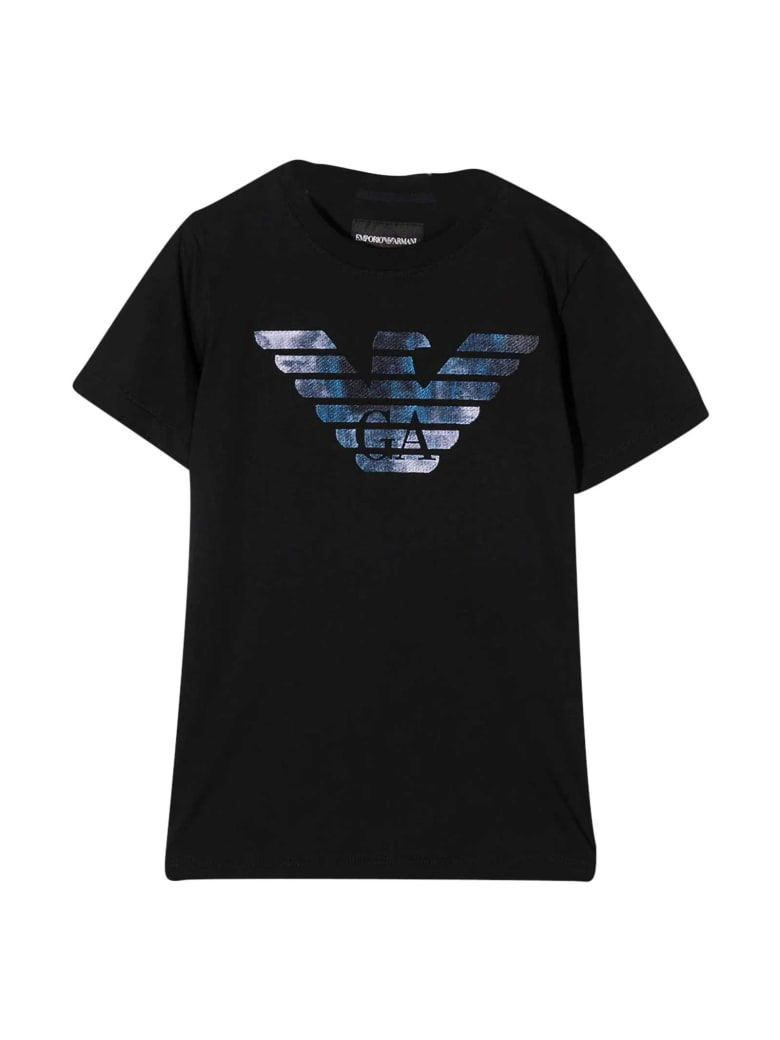 Emporio Armani Black Teen T-shirt - Nero