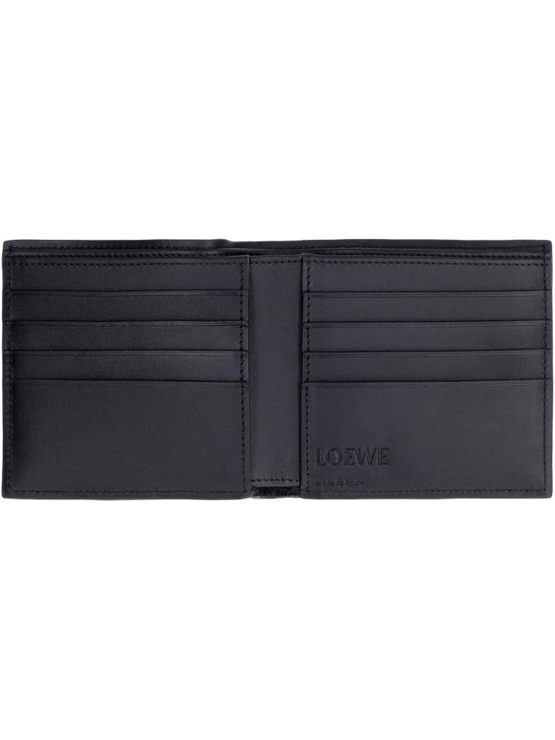 Loewe Leather Flap-over Wallet - black