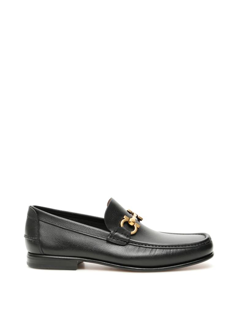 Salvatore Ferragamo Gran Fiordi Loafers - BLACK (Black)