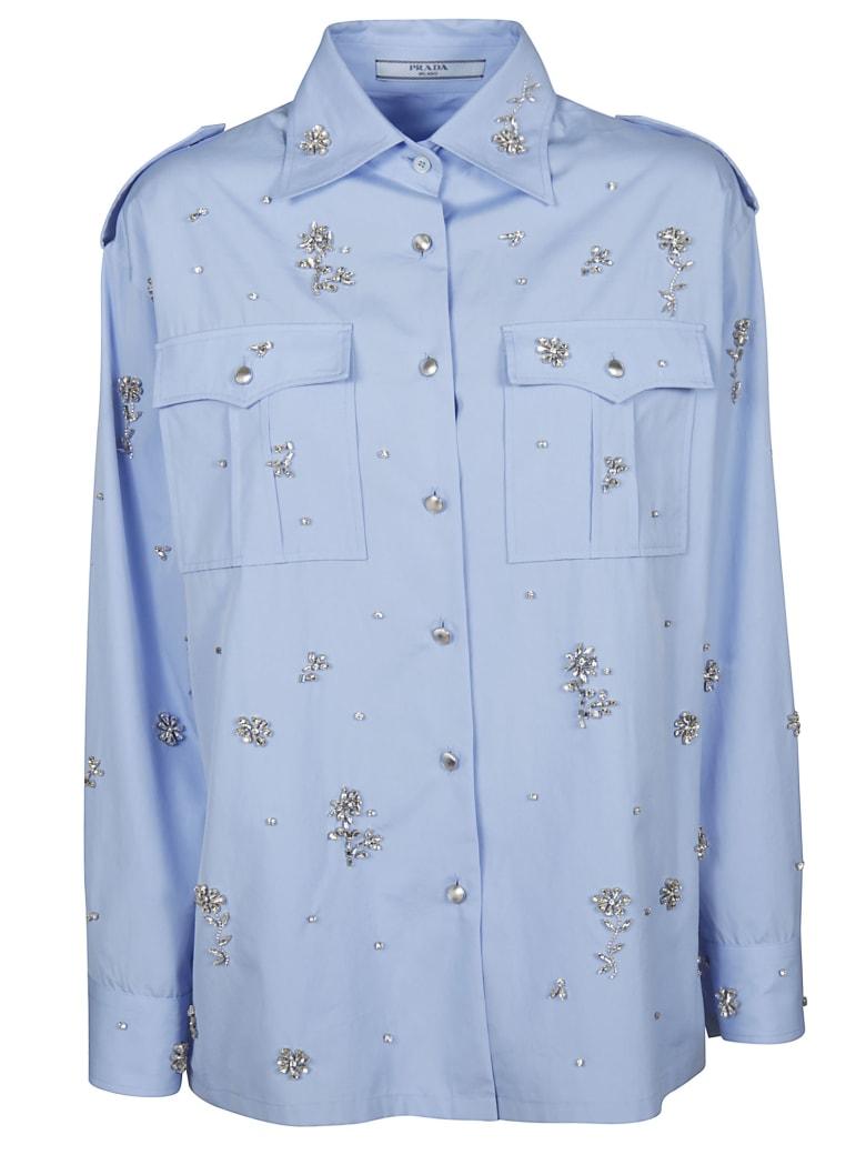Prada Popeline Egypt Shirt - Light Blue