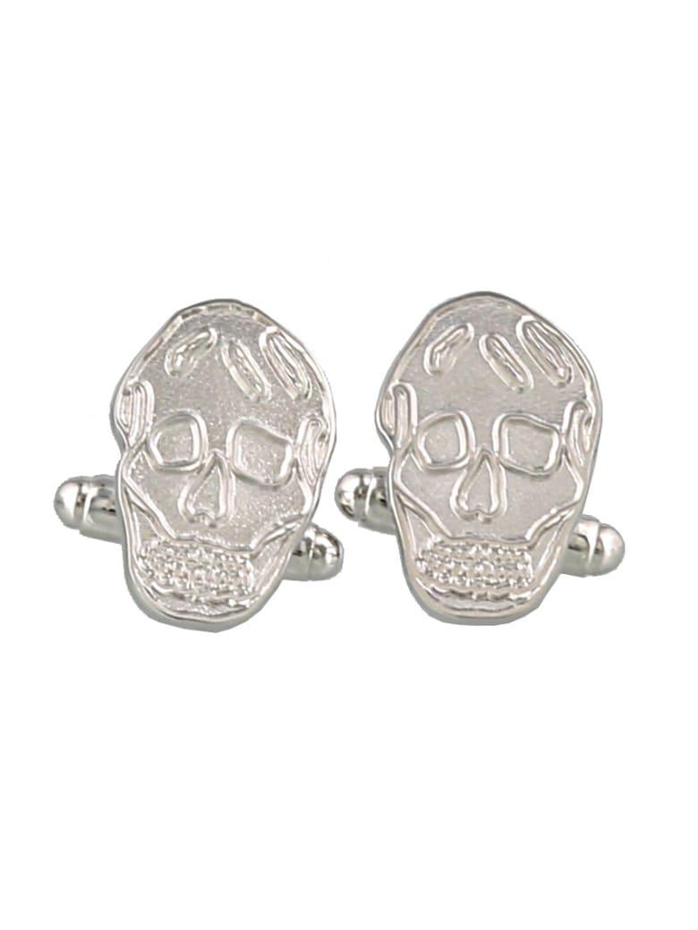 Alexander McQueen Skull Cufflinks - Silver